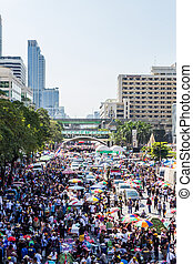 Thailand's protest against the government corruption.