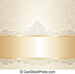 white & gold invitation design - white & gold vintage...