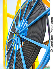 cable reel persective - Atmosphere in the construction and...