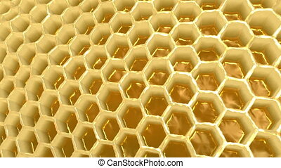 Honeycomb - 3d animation of honeycombs inside of beehives.