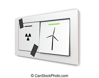 energy transition - metaphorical, conceptual, symbolic image...