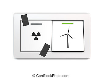 nuclear phase-out - metaphorical, conceptual, symbolic image...