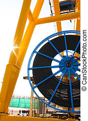 side cable reel - Atmosphere in the construction and cable...