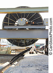 big cable reel - Atmosphere in the construction and...