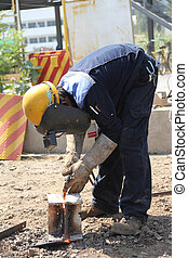 stand welding steel - Atmosphere in the construction and...