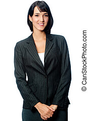 Young Businesswoman - An attractive young businesswoman in a...