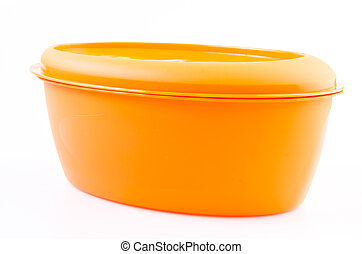 Food plastic container on isolated white background