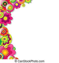 Colorfull Flowers Bolder, Vector Illustration