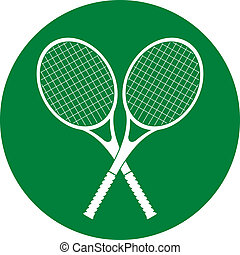 tennis rackets icon button vector