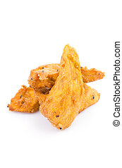 Yam - Fried yam on white background