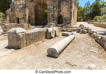 Monastery (friary) in Messara Valley at Crete island in...