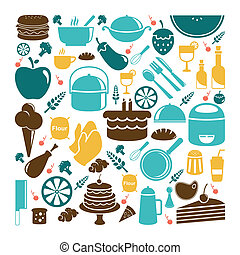 Food icons - A vector illustration of food icon sets