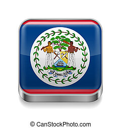 Metal  icon of Belize