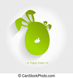 Happy easter card. - Happy easter card with easter egg.