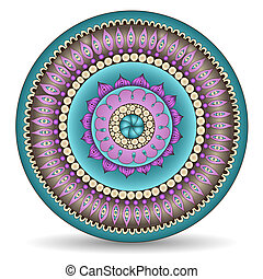 Mandala. Round Ornament Pattern. Ornamental Flowers. Vector...