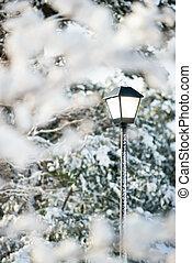 Lamp Post - Lamp post in snow