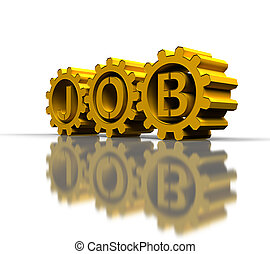 gold gears with job text - big gold gears with job text,...