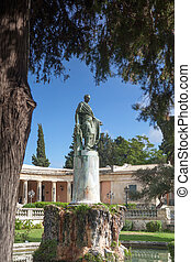 Corfu Adam statue - General Sir Frederick Adams statue in...