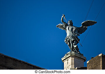 Castel Sant Angelo - detail of the famous Castel Sant Angelo...