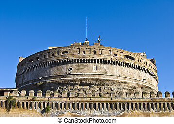 Castel Sant Angelo - detail of the famous Castel Sant Angelo...