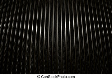 Metal Gril - Closeup image of a car heatsink or cooler...