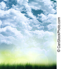abstract background of summer sky