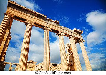 Erechtheum at Acropolis in Athens, Greece