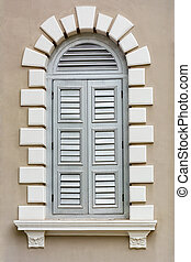 Architectural element - Renaissance style window -...