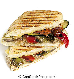 Healthy Veggie Panini - Healthy vegetable panini or...
