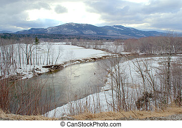 white mountains, swift river, NH - kangamangus highway,...