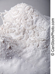 Detail of wedding dress - Close up detail of wedding dress