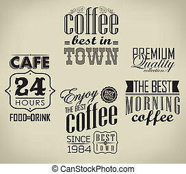 Set of coffee , cafe typographic elements - set of coffee ,...