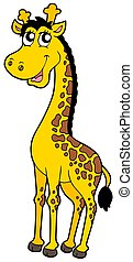Cute cartoon giraffe - isolated illustration