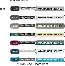 Original Header Shapes 94 - Original vector shape for...