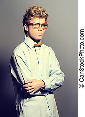graduate student - Portrait of a modern young man in...