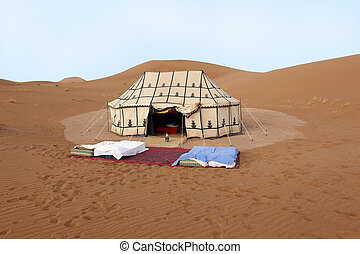 Place to sleep in the desert in Morocco