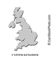 UNITED KINGDOM MAP on white