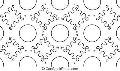Gears outline - Looping rotation of outline gears