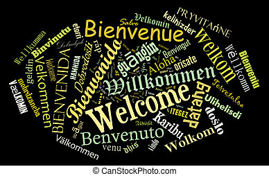 Welcome phrase in  different languages