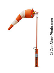 Windsock - Airport windsock on white background