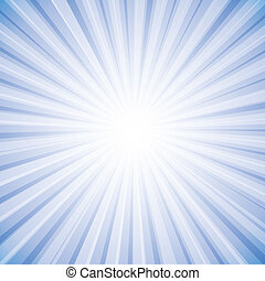 Sun rays in bright white on sky in background vector...