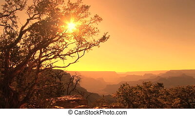 Grand Canyon Sunset - Sunset at Hopi Point, Grand Canyon...