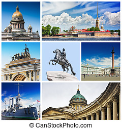 Set photos of St Petersburg's attractions - Set photos of St...