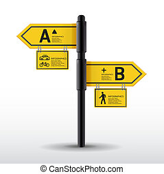 Modern road sign Design template can be used for...