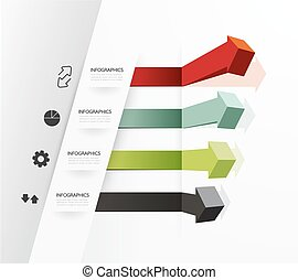 Modern Design Minimal style infographic template / can be used for infographics / numbered banners / horizontal cutout lines / graphic or website layout vector