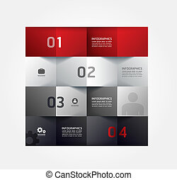 Modern Design Minimal style infographic template can be used...