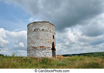 Old brick water tower