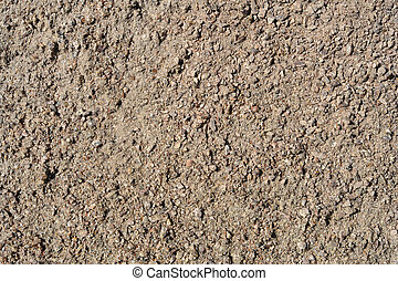 Sand texture of crushed stone
