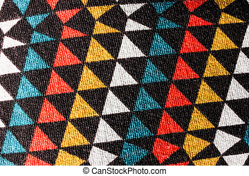 Colorful pattern fabric triangle texture backgroud