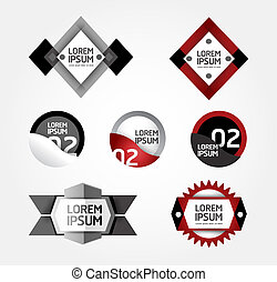 Modern Design modern Labels / can be used for infographics /...